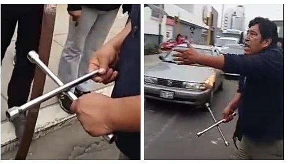 Surco: Chofer informal amenazó con llave de ruedas a inspectores de tránsito