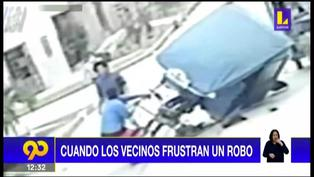 Piura: Vecinos se unen y frustran robo de falso mototaxista a una pareja (VIDEO)