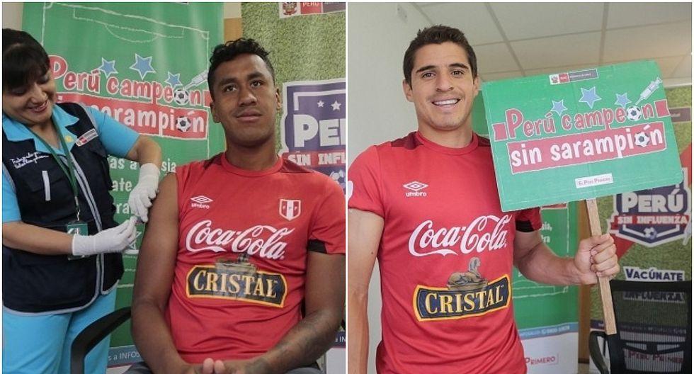 Jugadores de la selección se unieron a la campaña 'Perú sin sarampión' (FOTOS)
