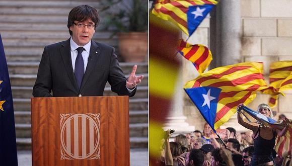 """Cataluña: Puigdemont llama a una """"oposición democrática"""" al Gobierno español (VIDEO)"""