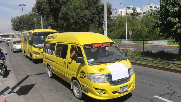 Transportistas protestaron dos días para ser formalizados  Fotos: Eduardo Barreda