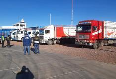 Intervienen tres camiones con ladrillos de contrabando en Juliaca