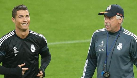 Carlo Ancelotti desmiente diálogo con Cristiano Ronaldo. (Foto: AFP)