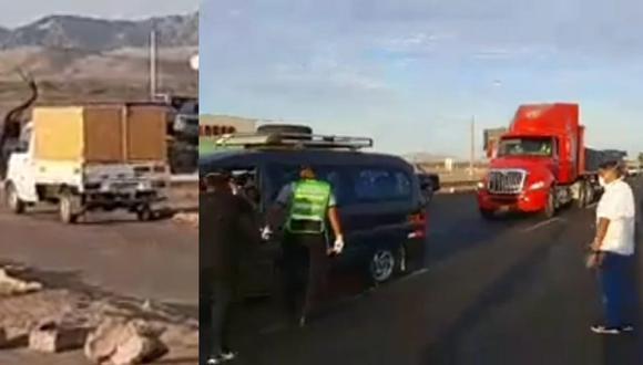 Ica: Detienen a 20 personas que pretendían llegar a Ica escondidos en una camioneta cerrada burlando estado de emergencia.
