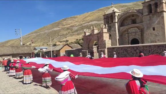 Alcalde de la Municipalidad Distrital de Sibayo señaló que la finalidad de esta actividad es resaltar el aniversario patrio y el bicentenario del Perú. (Foto: Difusión)