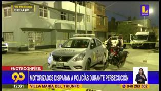 Dos policías heridos tras persecución y balacera en Villa María del Triunfo