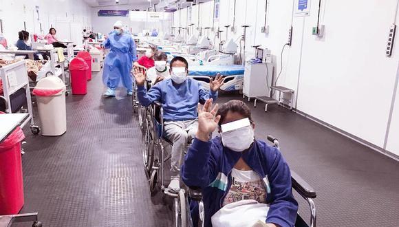 Ocho pacientes reciben alta médica y dos salen de UCI del Hospital San José de Chincha.
