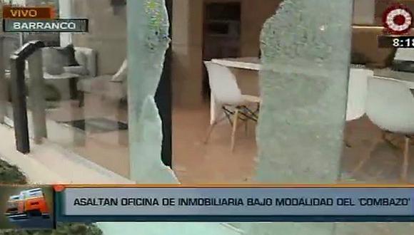 Barranco: delincuentes asaltan oficina inmobiliaria con modalidad del 'combazo'