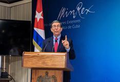 Cuba: Canciller Rodríguez rechaza sanciones y dice que EE.UU. debe ocuparse de su propia violencia