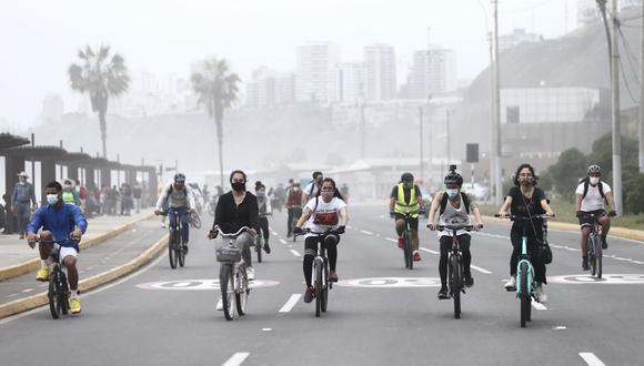 Se restringirá el tránsito vehicular en la Costa Verde los domingos. (Foto: Jesús Saucedo/@photo.gec)