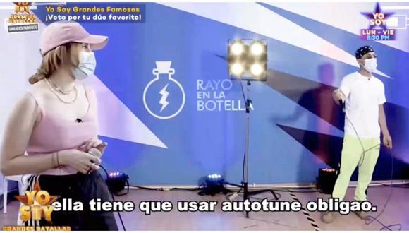 Ania e imitador de Bad Bunny discuten en 'Yo Soy' por el uso del autotune. (Foto: Captura Latina)