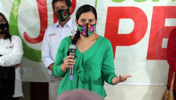 Verónika Mendoza aseguró que fortalecerá la capacidad de recaudación del Estado sin crear nuevos impuestos. (Foto: Difusión)
