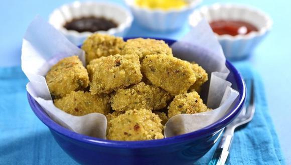 Nuggets de pollo con quinua. (Foto: Kiwilimón)