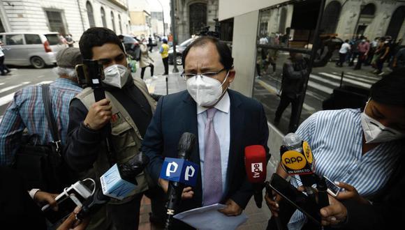 El abogado de Martín Vizcarra, Fernando Ugaz, cuestionó las declaraciones de Germán Juárez. (Foto: GEC)
