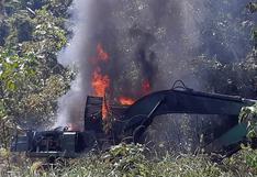 Destruyen maquinaria utilizada para la minería ilegal en la Reserva de Tambopata