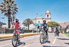 Realizan bicicleteadas en tres distritos de Arequipa