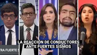 La reacción de distintos conductores de televisión ante fuertes sismos ocurridos en nuestro país
