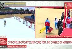 Mujer se desvaneció en medio de multitud durante ceremonia en Pampa de la Quinua (VIDEO)