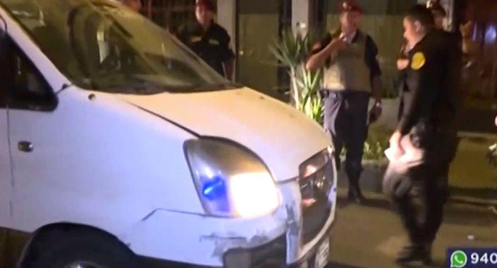 Un delincuente fue detenido tras la intensa persecución. (Foto: Captura/Latina)