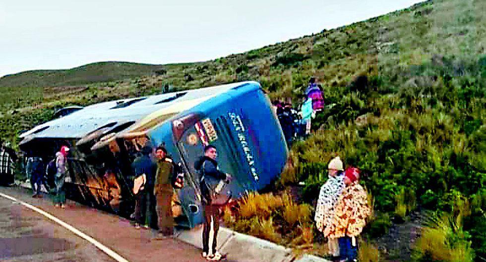 Racha de accidentes en la carretera Juliaca - Arequipa deja heridos