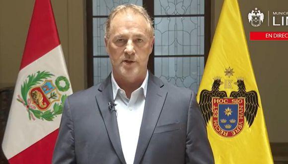 Jorge Muñoz (Foto: Captura video MuniLima)