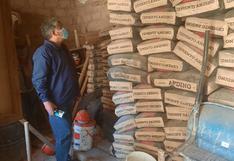 Hallan 465 bolsas de cemento vencidos en obra ejecutado por la Municipalidad de Huamanga