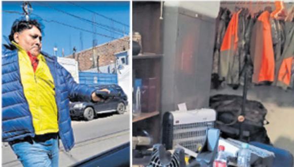 La PNP halló en el taller gran cantidad de armamento de cacería. El detenido tiene licencia para la mayoría de las armas. (Foto: Difusión)