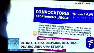 Delincuentes estafan a jóvenes con falsos puestos de trabajo en aerolínea (VIDEO)