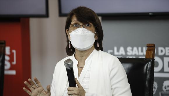 En la imagen, Pilar Mazzeti en conferencia de prensa. (Foto: GEC)