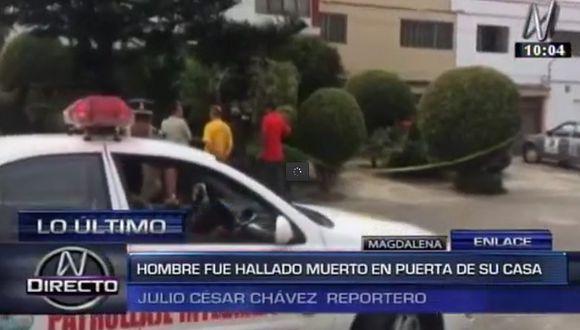 Magdalena: español es hallado ahorcado en la puerta de una casa