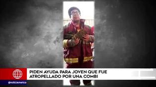 Madre de joven que fue atropellado por una combi pide ayuda