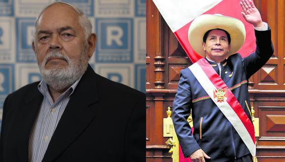 Jorge Montoya, congresista de Renovación Popular, y Pedro Castillo, presidente de la República del Perú. | Foto: Composición GEC.
