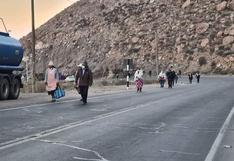 Habilitan paso vehicular en la Carretera Arequipa- Puno después de 14 horas
