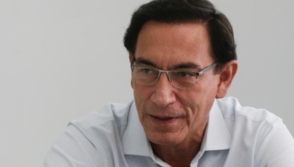 Martín Vizcarra cuestionó la inhabilitación en su contra por el Congreso. (Foto: Archivo de GEC)