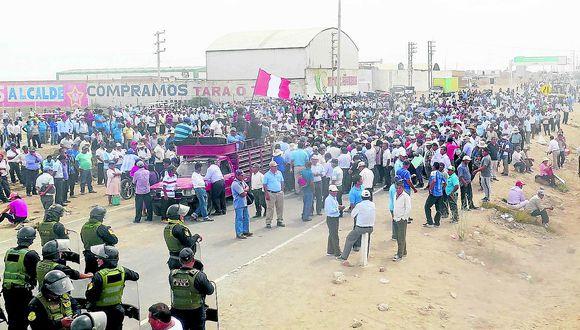 Agricultores de la región apoyan huelga a pesar de divisiones