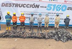 Destruyen más de cinco mil armas de fuego en Chimbote