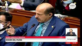 """Héctor Valer se disculpa con la congresista Leslie Olivos: """"Trabajemos en bien del país"""""""