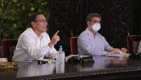 Martín Vizcarra aclaró que la fecha para la reactivación de algunos sectores productivos aún no está deifnida. (Foto: Presidencia Perú)