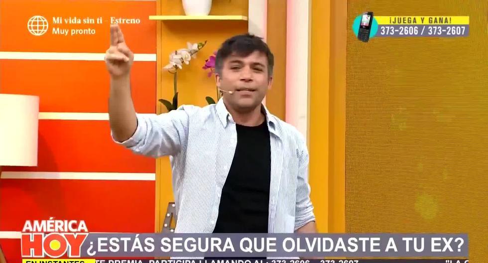 """Renzo Schuller volvió a la conducción de """"América Hoy"""" tras operación"""
