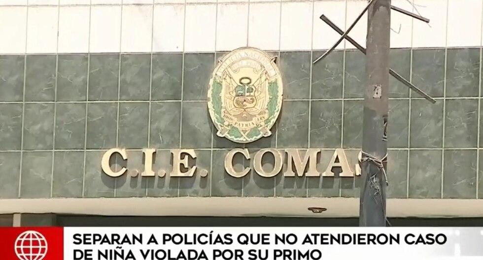 La Inspectoría General inició el procedimiento administrativo disciplinario contra ambos policías. (Foto captura: América Noticias)