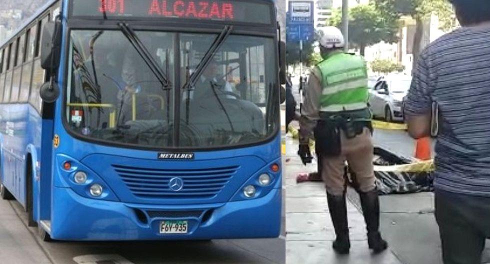 Hombre muere tras ser atropellado por bus del Corredor Azul (VIDEO)