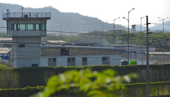 Vista general de la prisión Guayas 1 en las afueras de Guayaquil, Ecuador, tomada el 1 de octubre de 2021. (Foto: Fernando MENDEZ / AFP)