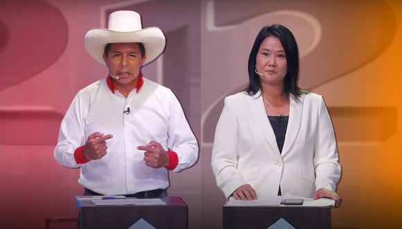 Pedro Castillo y Keiko Fujimori en segunda vuelta (Foto: Composición El Comercio)