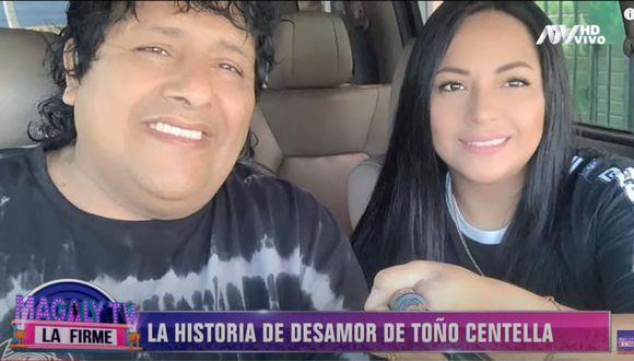 El cantante Toño Centella acusa a su esposa, Johana Rodríguez Bazán, de serle infiel con un menor de edad que canta en la orquesta Zaperoko y quien usa su reloj y cadena que se le perdieron de su casa. (Captura Magaly TV, La Firme)