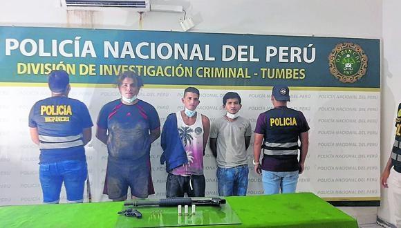 Los tres intervenidos fueron llevados a la División de Investigación Criminal de la PNP para seguir las indagaciones de ley.