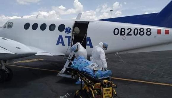 El paciente fue trasladado de urgencia vía aérea desde la ciudad de Juliaca. (Foto: Difusión)