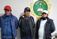 Juliaca: Detienen a presuntos delincuentes que eran el terror de transeúntes