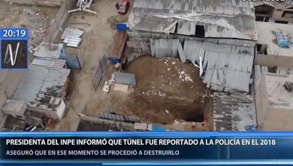 El actual túnel iba a llegar hasta el pabellón 1-A del penal Miguel Castro Castro. (Canal N)