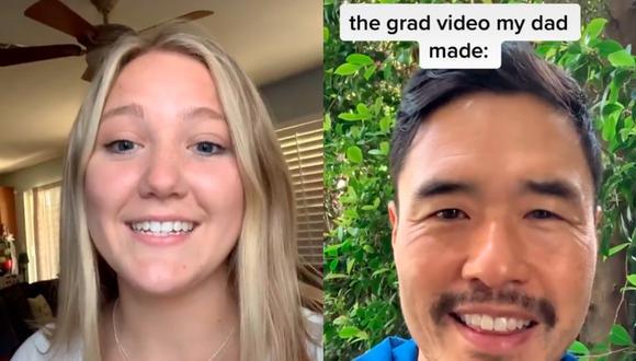 Un video viral de TikTok muestra como el padre de un adolescente hizo un video sorpresa con muchas celebridades saludándola (Foto: TikTok)