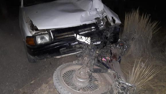 Juliaca: Chofer ebrio atropella a motociclista y se da a la fuga